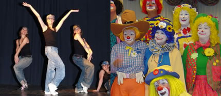 Danza moderna e clown